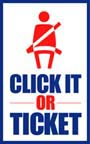 US Department of Transportation Click It Or Ticket Seatbelt Usage Encouragement. Using seat belts saves lives and in required in most states.